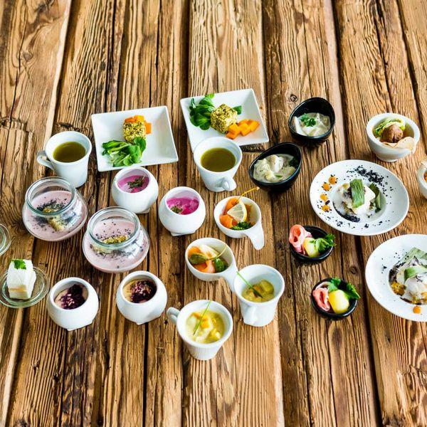 Vorspeisen_gourmet_haubenrestaurants_südtirol_hotel_für_feinschmecker_südtirol_gourmethotel_südtirol