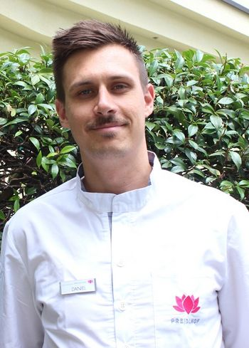 Daniel vom Spa-Team