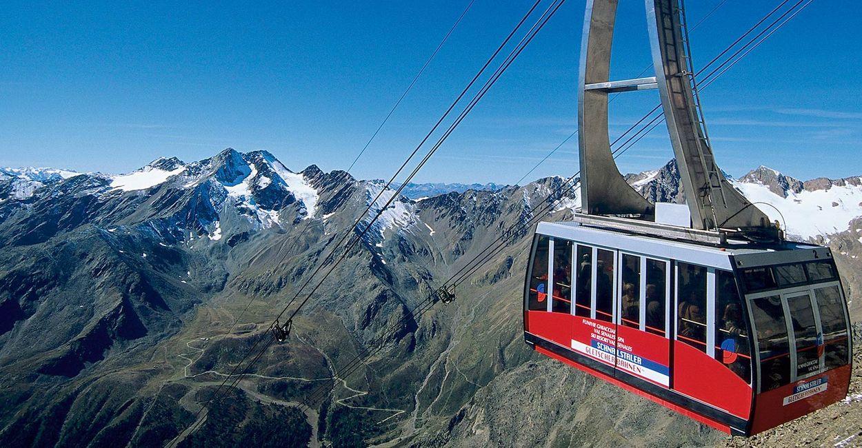 Gondel Panorama Bergbahn Vinschgau