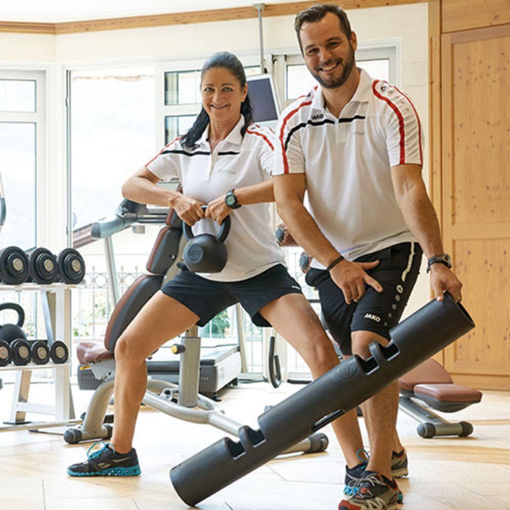 Paar beim Workout